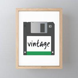 Vintage Floppy Disk Framed Mini Art Print