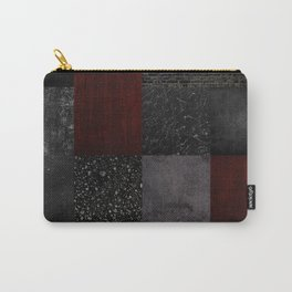 Patchwork (Burgundy + Black) Carry-All Pouch