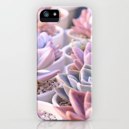 PASTEL SUCCULENTS iPhone Case