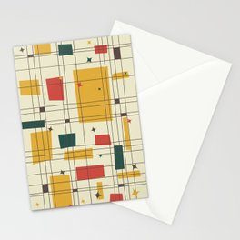 Mid-Century Modern (gold) Stationery Cards