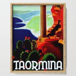 Vintage Taormina Italy Travel Serving Tray