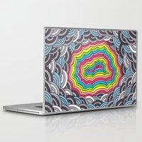 geode Laptop & iPad Skins featuring Rainbow Geode by Audrey Pixel Designs