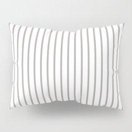 Silver Thistle Pinstripe on White Pillow Sham