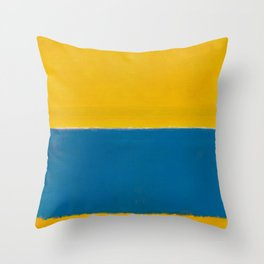 Untitled (Yellow and Blue) by Mark Rothko HD Throw Pillow