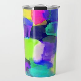 Brushstroke Blue Travel Mug