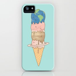 melting planets iPhone Case