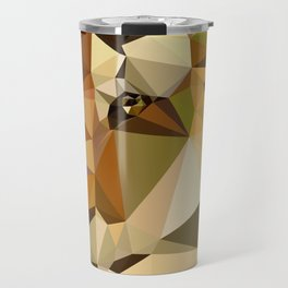 Tiger - Abstract Art Low Poly Animals Travel Mug