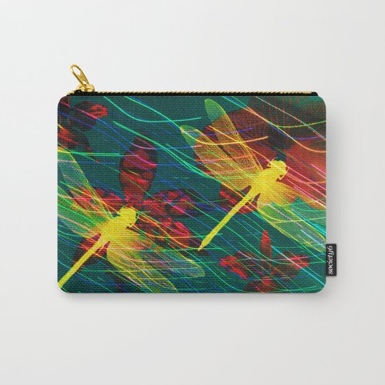Dragonflies Neon Neon Carry-All Pouch