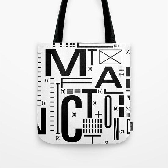 METAL FICTION Tote Bag