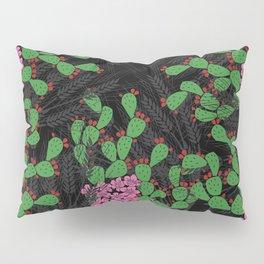 Locust Cider Cactus on black Pillow Sham