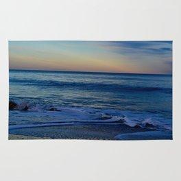 Blue Beach Paradise Waves Rug