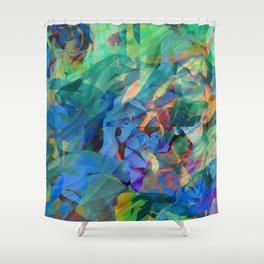 Wild Abalone Shell Abstract Holographic Texture Shower Curtain