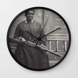 Mary Fields, First African-American Woman Mail Carrier Wall Clock