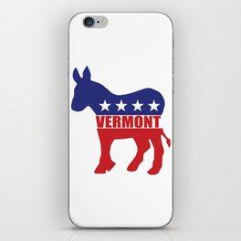 Vermont Democrat Donkey iPhone Skin