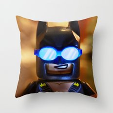 Beach Bat Throw Pillow