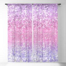 Unicorn Girls Glitter #2 #shiny #decor #art #society6 Sheer Curtain