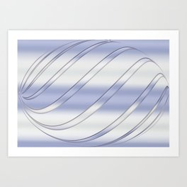 Abstract silver texture. Art Print