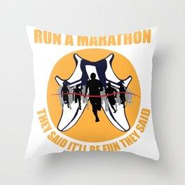 Marathon Funny Say Winner Aim Gift Throw Pillow