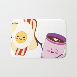 BFF Fun Eggs & Coffee with Bacon & Toast Bath Mat