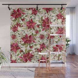 POINSETTIA - FLOWER OF THE HOLY NIGHT Wall Mural
