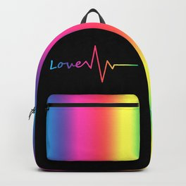 Rainbow Love Heartbeat Backpack