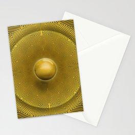 Golden Sunrise Pattern Stationery Cards