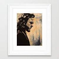 eddie vedder Framed Art Prints featuring Eddie  by lyneth Morgan
