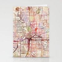 atlanta Stationery Cards featuring Atlanta by MapMapMaps.Watercolors