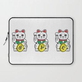 Maneki Neko (Japanese Beckoning Cat) Laptop Sleeve