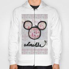Adorable Mouse Fleur de lis Painting Hoody