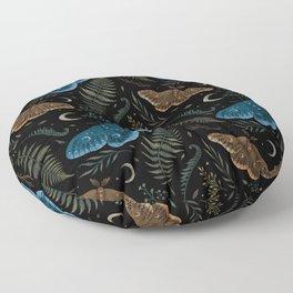 Moths and Ferns Floor Pillow