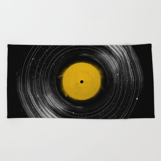 Sound System Beach Towel