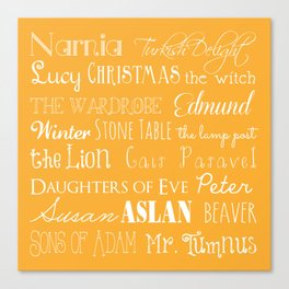 Narnia Celebration - Marigold Canvas Print