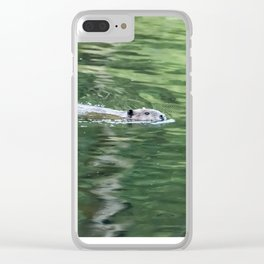 Beaver on an Evening Swim Clear iPhone Case