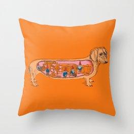Secrets of the Dachshund  Throw Pillow