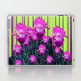 Decorative Chartreuse Fuchsia Purple Iris Garden Pattern Laptop & iPad Skin