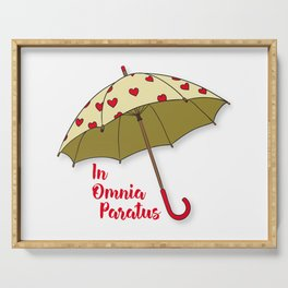 In Omnia Paratus - Umbrella Design Serving Tray