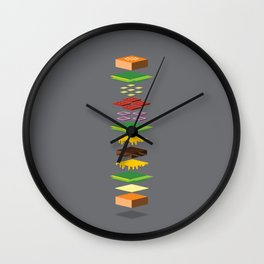 Dissected Cube Burger Wall Clock