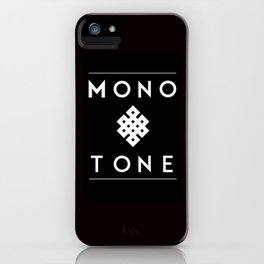 Eternal Monotone iPhone Case