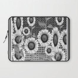 B&W NEW YORK STYLE FLORAL ART Laptop Sleeve