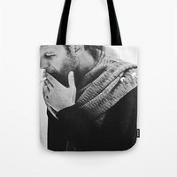 smoking Tote Bags featuring smoking by MartaSyrko