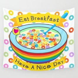 Eat Breakfast! Wall Tapestry