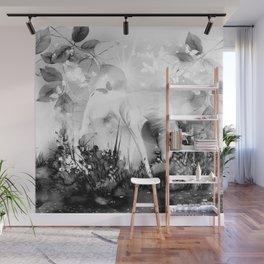 Einhorn - schwarz-weiß Wall Mural