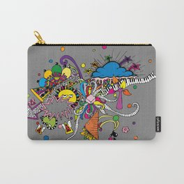 Colored Doodle Carry-All Pouch