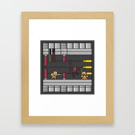 Mega Boss Battles - Darth Maul vs. Obiwan & Qui Gon Framed Art Print