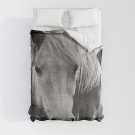 Horses - Black & White 7 Comforters