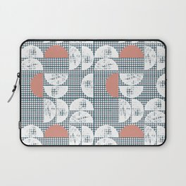 Mid-Century Check Pattern Laptop Sleeve