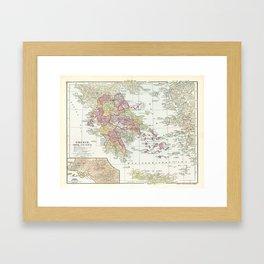 Vintage Map of Greece (1903) 2 Framed Art Print