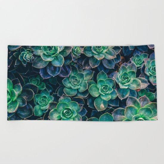 Succulent Gardens Beach Towel