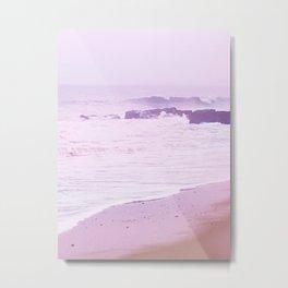 Misty Pink Sea Metal Print